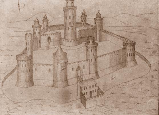 Общий вид феодального замка