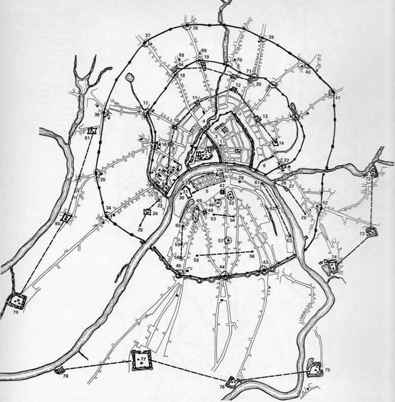 Схема расположения главных