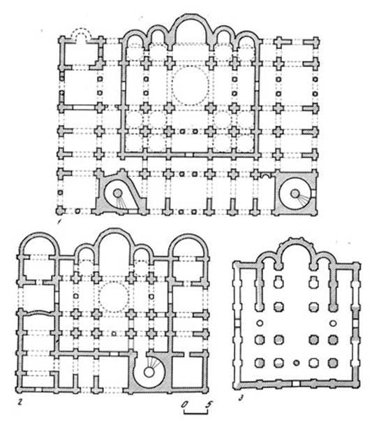 Планы пятинефных Софийских