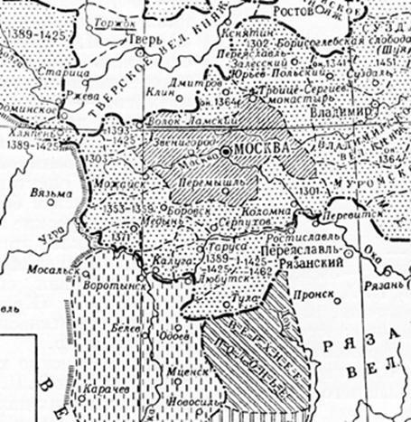 Карта перехода земель под